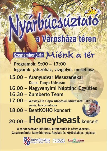 Nyárbúcsúztató program 2016 Dunaújváros